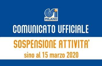 Aggiornamento Attività Sportiva – 3° Comunicato