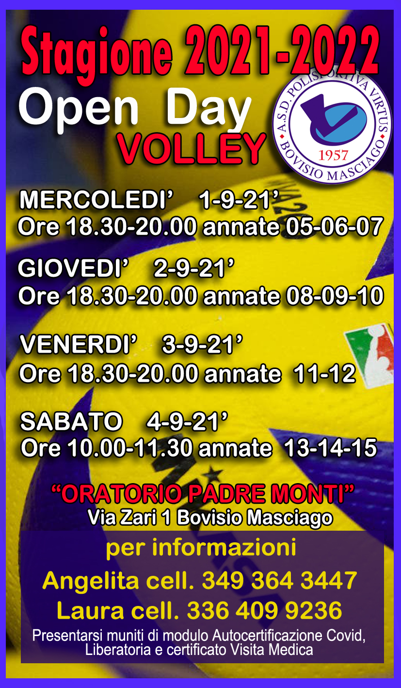 OPEN DAY VOLLEY